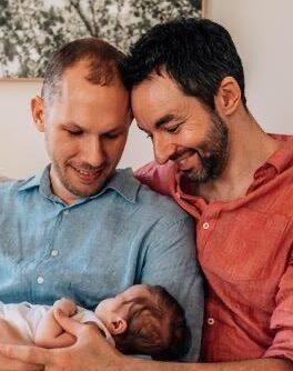 Gay dad via surrogacy